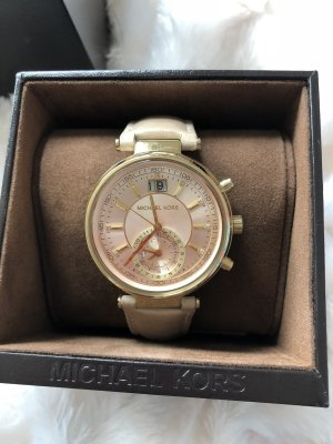 Michael Kors Watch With Leather Strap rose-gold-coloured-oatmeal