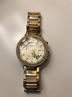 Michael Kors Watch With Metal Strap gold-colored-natural white