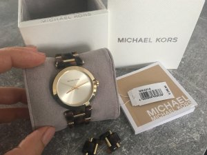 Michael Kors Montre analogue brun-doré
