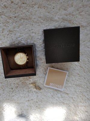 Michael Kors Reloj con pulsera metálica color oro acero inoxidable