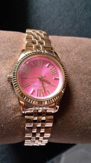 Michael Kors Uhr Gold mit rosa Zifferblatt
