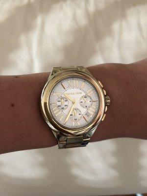 Michael Kors Orologio con cinturino di metallo bianco-oro