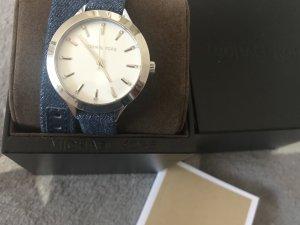 Michael Kors Uhr in Jeansstoff doppelt zum binden neu mit Etikett
