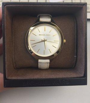 Michael Kors Uhr in Weiß und Gold