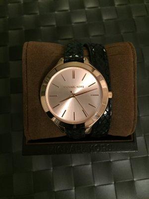 Michael Kors Uhr Leder roségold/schwarz