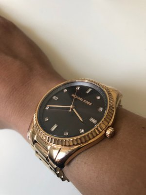 Michael Kors Analog Watch black brown-rose-gold-coloured stainless steel