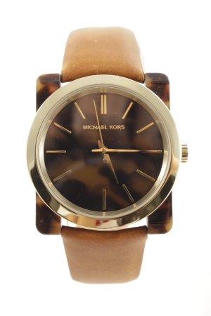"Michael Kors Uhr mit Lederarmband ""Ladies Kempton Wristwatch Tortoise"""