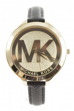 "Michael Kors Uhr mit Lederarmband ""Slim Runway Ladies Watch Gold"""