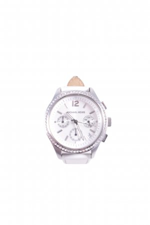 Michael Kors Watch With Leather Strap white Logo application