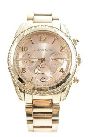 "Michael Kors Orologio con cinturino di metallo ""Blair Pavé Gold-Tone Watch"""