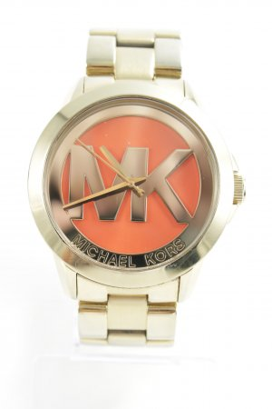 Michael Kors Uhr mit Metallband goldfarben-orange extravaganter Stil