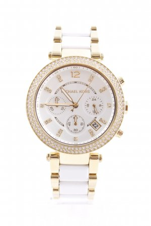 Michael Kors Uhr mit Metallband goldfarben-weiß Elegant