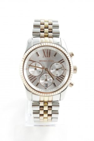 "Michael Kors Orologio con cinturino di metallo ""Lexington Ladies Watch Slvr/Gld/RseGld"""