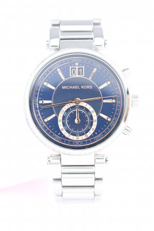 "Michael Kors Uhr mit Metallband ""MK6224 Sawyer Ladies Watch Silver/Blue/Rose"""