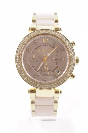 "Michael Kors Uhr mit Metallband ""MK6326 Parker Pavé Acetate Watch Gold-Tone Rose"""