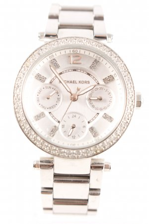 Michael Kors Watch With Metal Strap silver-colored elegant
