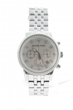 Michael Kors Watch With Metal Strap silver-colored glittery