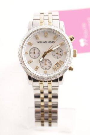 Michael Kors Uhr mit Metallband silberfarben-goldfarben Glitzer-Optik