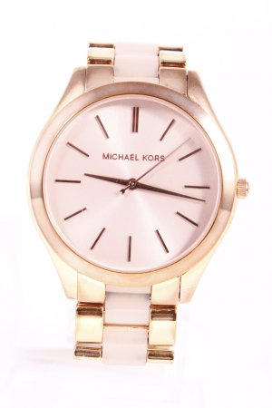 "Michael Kors Uhr mit Metallband ""Slim Runway Rose Gold-Tone Acrylic Watch"""