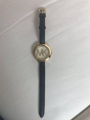 Michael Kors Orologio con cinturino di pelle nero Pelle