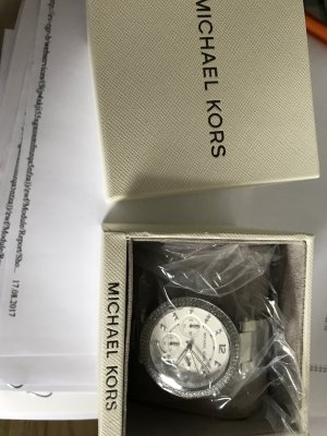 Michael Kors Reloj analógico gris claro metal