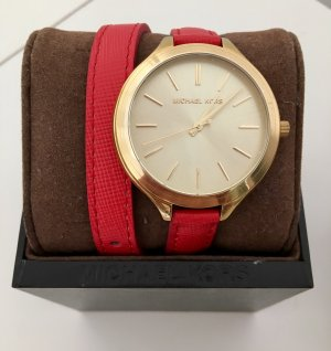 Michael Kors Uhr MK2332 Leder Pink Gold wie neu