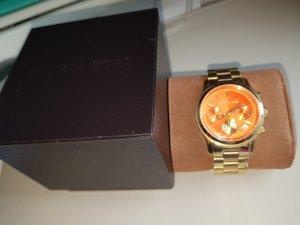 Michael Kors Orologio con cinturino di metallo oro-arancione