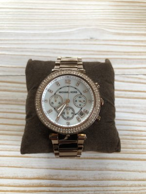 Michael Kors Watch With Metal Strap multicolored