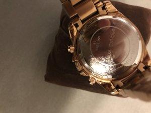 Michael Kors-Uhr Roségold Chronograph mit Glitzersteinen