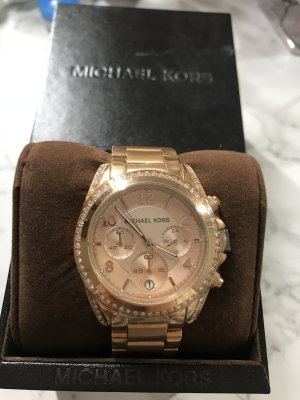 Michael Kors Watch With Metal Strap rose-gold-coloured-silver-colored