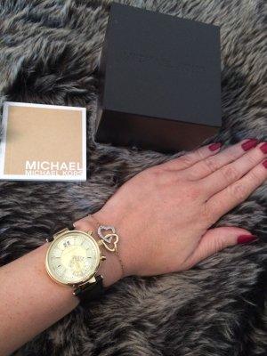 Michael Kors Uhr schwarz / gold Modell MK2433