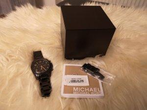 Michael Kors Orologio con cinturino di metallo nero-oro Acciaio pregiato