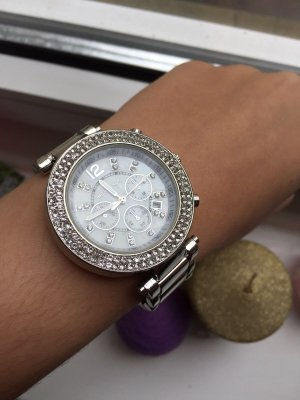 Michael Kors Watch With Metal Strap silver-colored