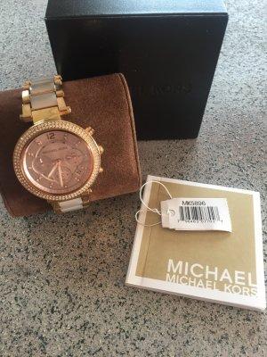 Michael Kors Horloge met metalen riempje roségoud