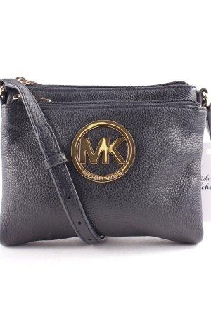 Michael Kors Gekruiste tas zwart-goud straat-mode uitstraling