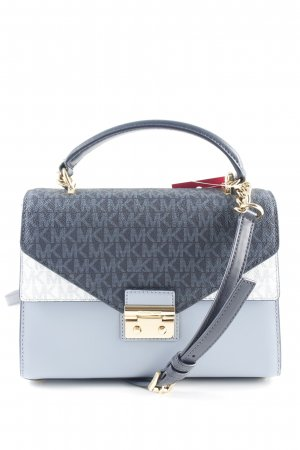 "Michael Kors Sac bandoulière ""Sloan MD Doubleflap TH Satchel Bag Pale Blue/Admiral/Optic White"""