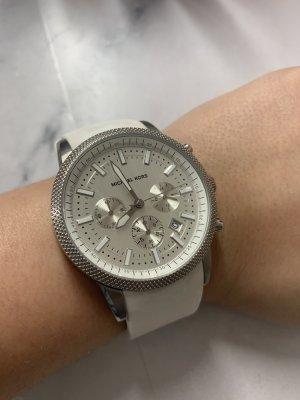 Michael Kors Unisex Uhr Silber Weiß MK-8284