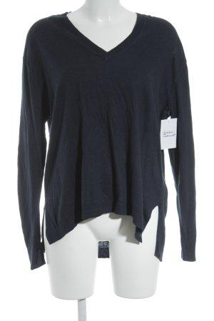Michael Kors V-Ausschnitt-Pullover dunkelblau schlichter Stil
