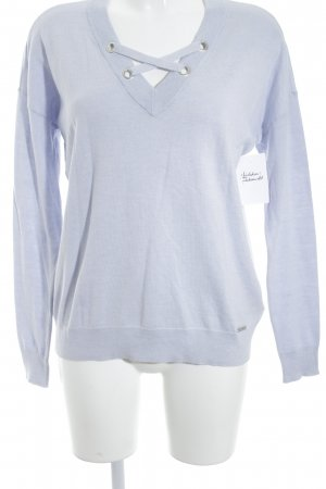 Michael Kors V-Ausschnitt-Pullover himmelblau Casual-Look