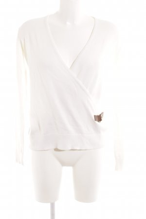 Michael Kors V-Ausschnitt-Pullover wollweiß Casual-Look