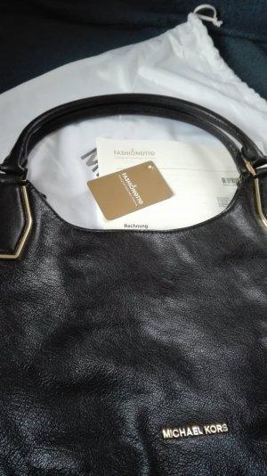 Michael Kors Sac porté épaule noir-doré cuir