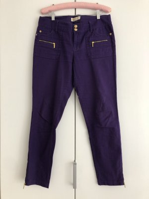 Michael Kors Pantalone peg-top viola scuro