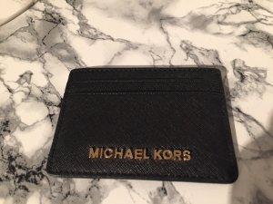 Michael Kors Card Case black-gold-colored
