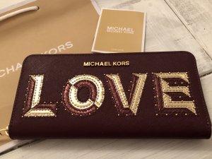 Michael Kors Wallet Travel Leder Geldbörse Love neu mit Etikett 155€