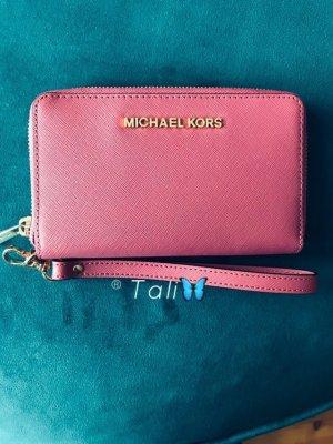 Michael Kors Wallet Wristlets Geldbörse Portemonnaie Phone Case Tulip AltRosa Gold