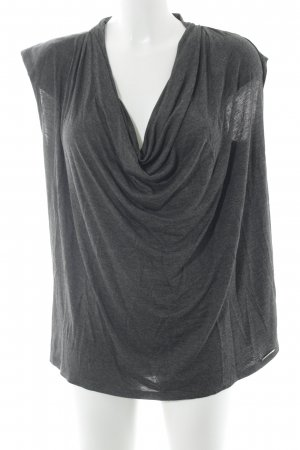 Michael Kors Cowl-Neck Shirt dark grey-black flecked casual look