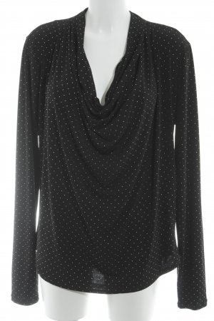 Michael Kors Cowl-Neck Shirt black-silver-colored casual look