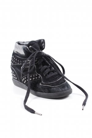 Michael Kors Wedge Sneaker schwarz-silberfarben Casual-Look