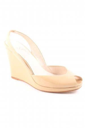 Michael Kors Wedges Sandaletten beige Lack-Optik
