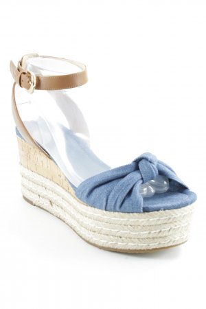 Michael Kors Wedge Sandals cream-cornflower blue beach look